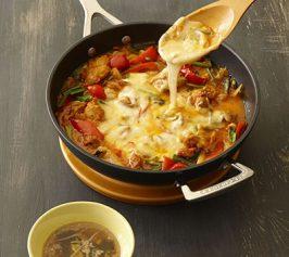 チーズタッカルビ・もやしのスープの作り方