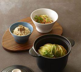 玄米ご飯・白菜の重ね煮の作り方