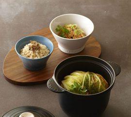 玄米ご飯・白菜の重ね煮
