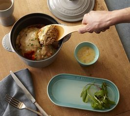 スコップハンバーグ・コーンスープの作り方