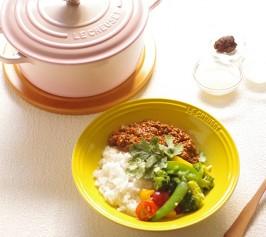 発酵スパイスキーマカレー、塩麹ご飯・野菜の塩麹マリネの作り方