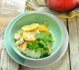 キャベツと鶏のレモン塩麹蒸し~アジアンヨーグルトソースの作り方